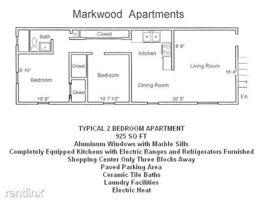 1 Bedroom 1 Bathroom Apartment for rent at Markwood Terrace in Indianapolis, IN