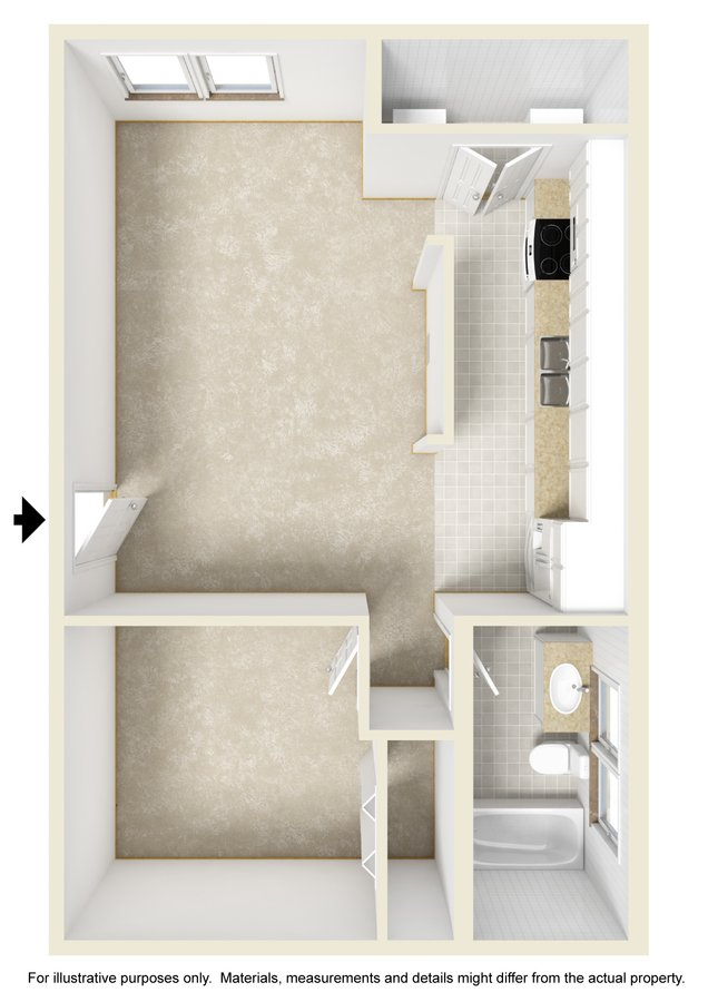 1 Bedroom 1 Bathroom Apartment for rent at Briarcliff Villas in Wilmington, NC