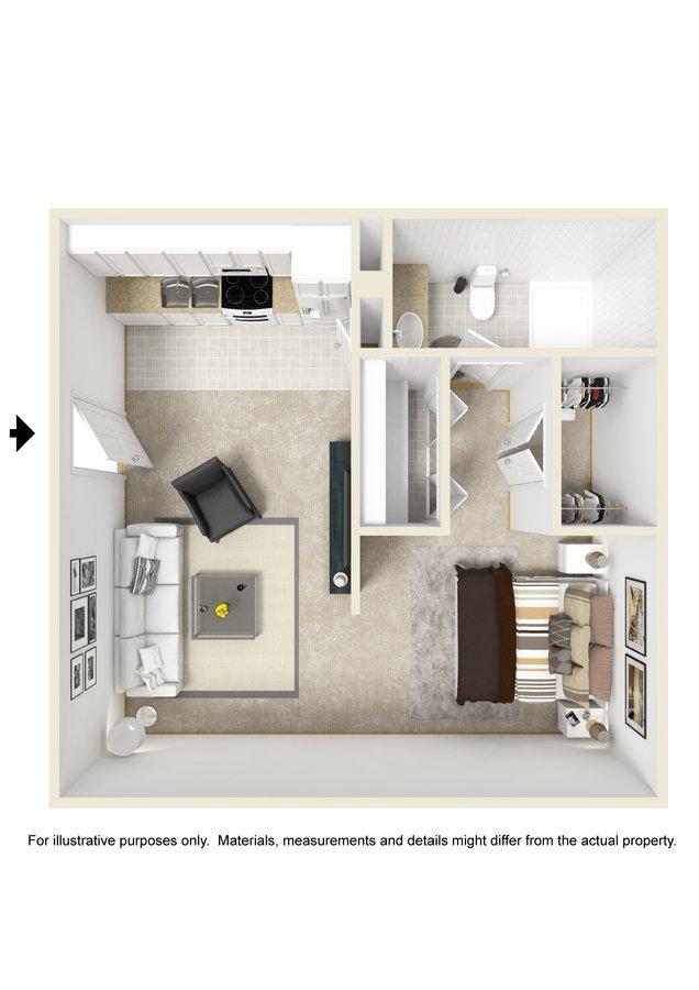 Studio 1 Bathroom Apartment for rent at Deerbrook in Wilmington, NC