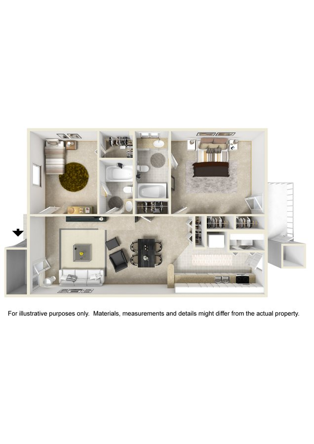 2 Bedrooms 2 Bathrooms Apartment for rent at Deerbrook in Wilmington, NC