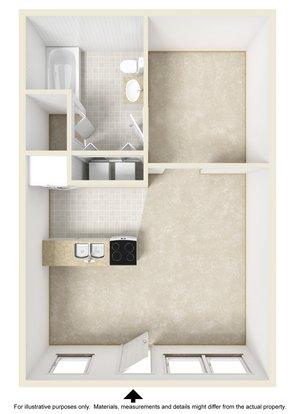 Studio 1 Bathroom Apartment for rent at Antiqua in Wilmington, NC