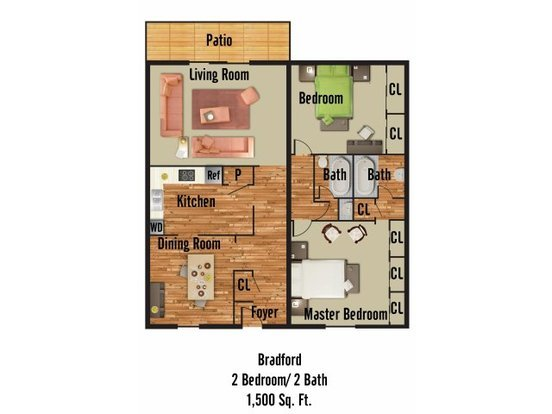 2 Bedrooms 2 Bathrooms Apartment for rent at 2029 Bedford Street in Durham, NC
