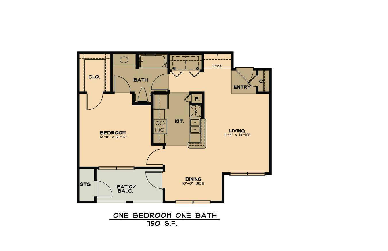 1 Bedroom 1 Bathroom Apartment for rent at Primrose At Monticello Park - Active Senior Living in San Antonio, TX