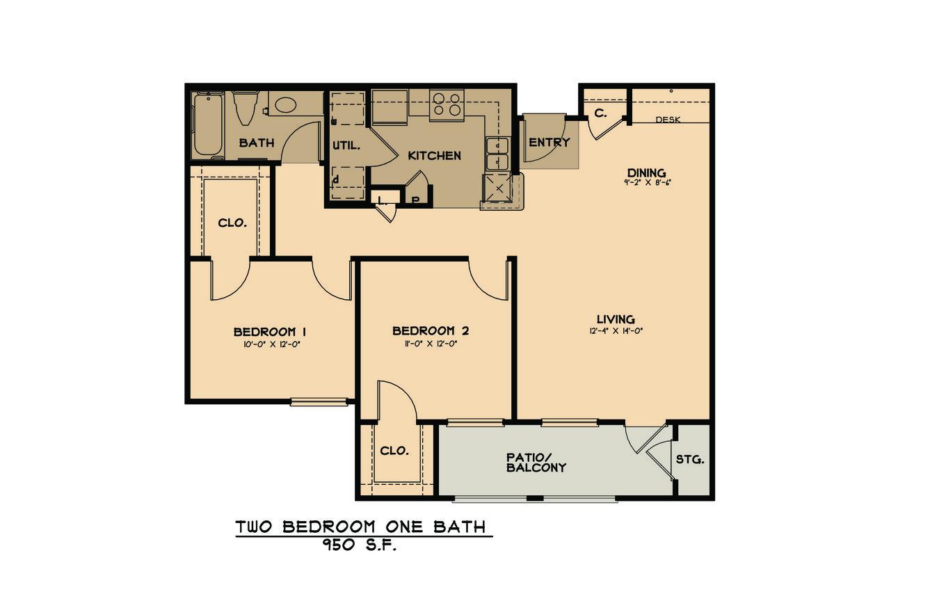 2 Bedrooms 1 Bathroom Apartment for rent at Primrose At Monticello Park - Active Senior Living in San Antonio, TX