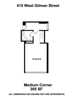 Studio 1 Bathroom Apartment for rent at Master Hall in Madison, WI