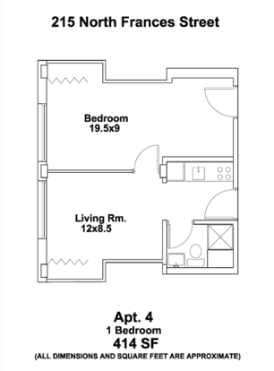 1 Bedroom 1 Bathroom Apartment for rent at The Frances in Madison, WI