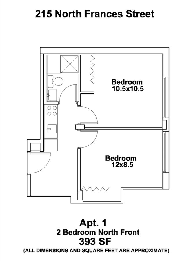 2 Bedrooms 1 Bathroom Apartment for rent at The Frances in Madison, WI