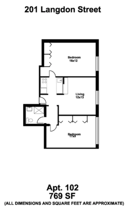 2 Bedrooms 1 Bathroom Apartment for rent at Brian House in Madison, WI