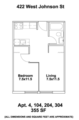 1 Bedroom 1 Bathroom Apartment for rent at Bradley Ct. in Madison, WI