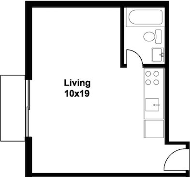 Studio 1 Bathroom Apartment for rent at 545 W Johnson St in Madison, WI