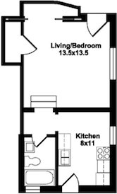 Studio 1 Bathroom House for rent at 409 W Wilson St in Madison, WI