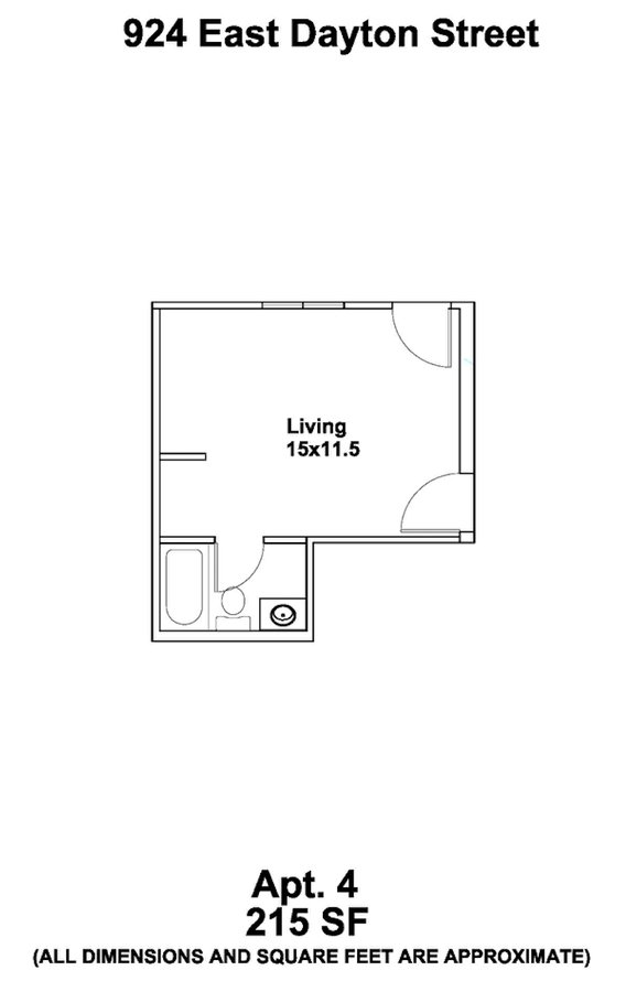 Studio 1 Bathroom House for rent at 924 E Dayton St in Madison, WI