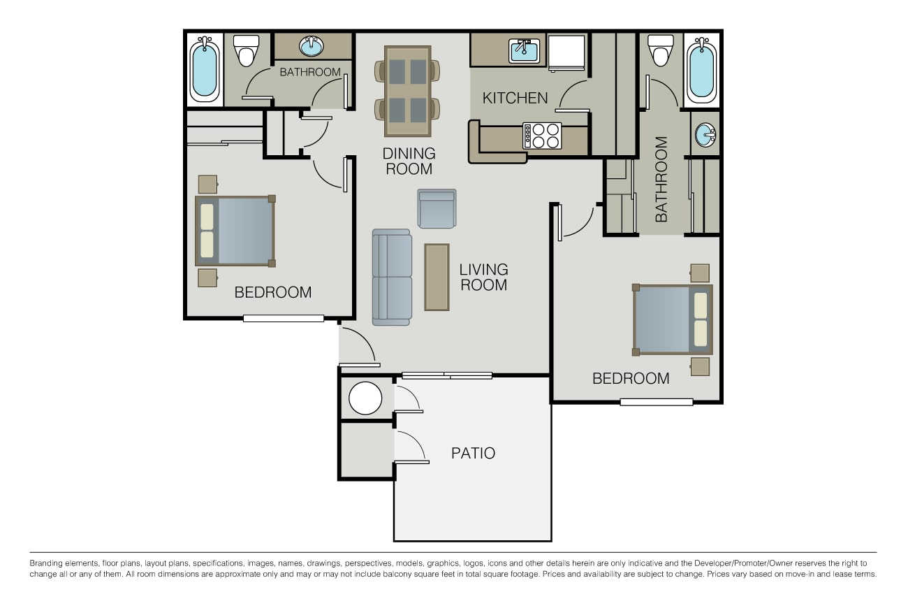 2 Bedrooms 2 Bathrooms Apartment for rent at Bel Air in San Ramon, CA