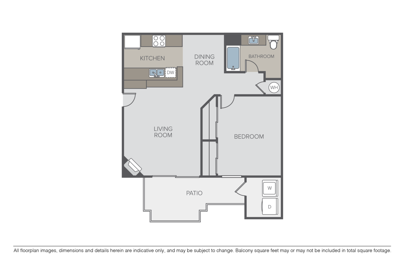 1 Bedroom 1 Bathroom Apartment for rent at Crow Canyon in San Ramon, CA