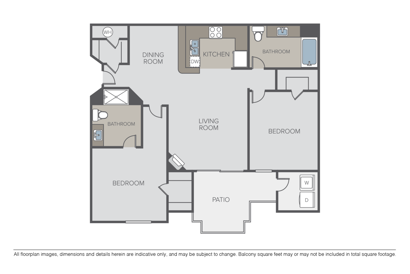2 Bedrooms 2 Bathrooms Apartment for rent at Crow Canyon in San Ramon, CA