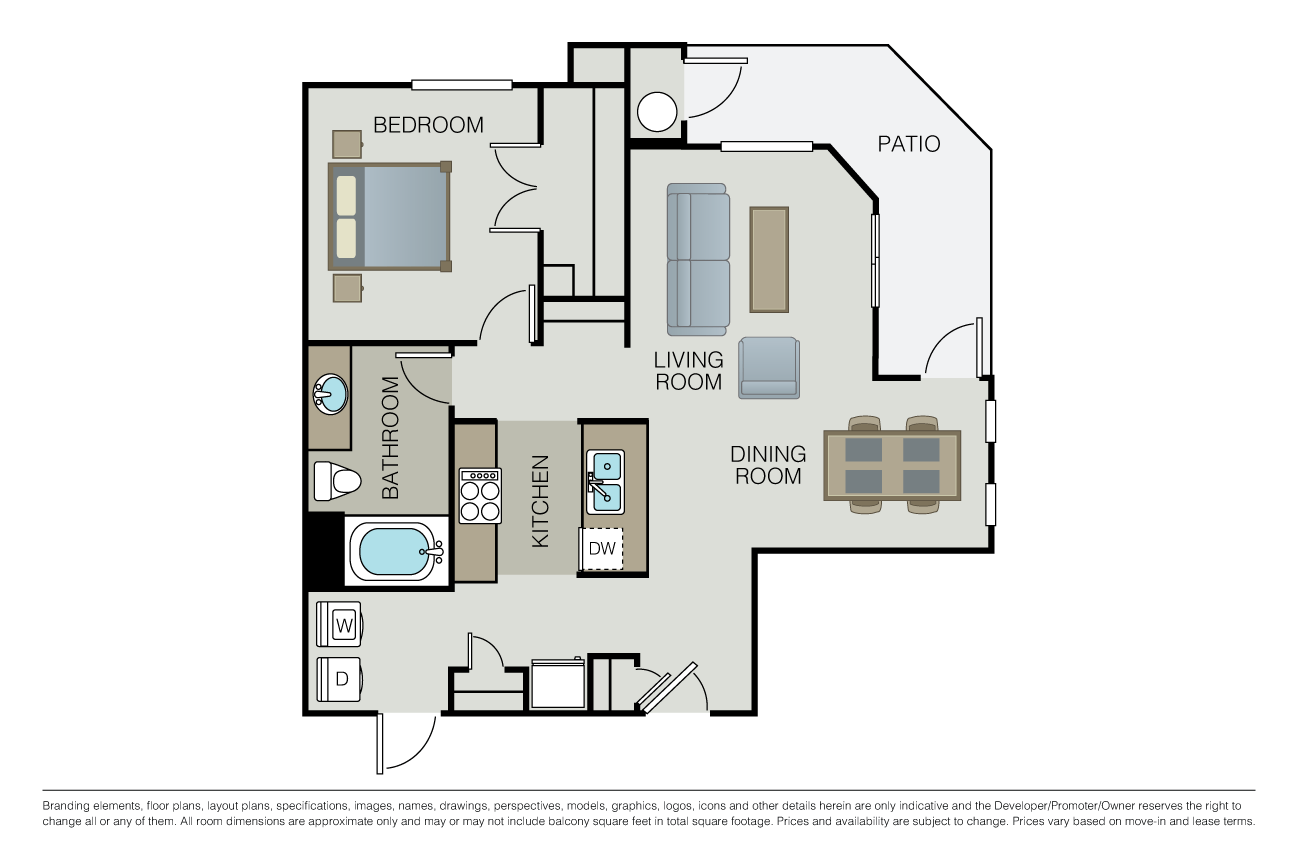 1 Bedroom 1 Bathroom Apartment for rent at Mill Creek at Windemere in San Ramon, CA