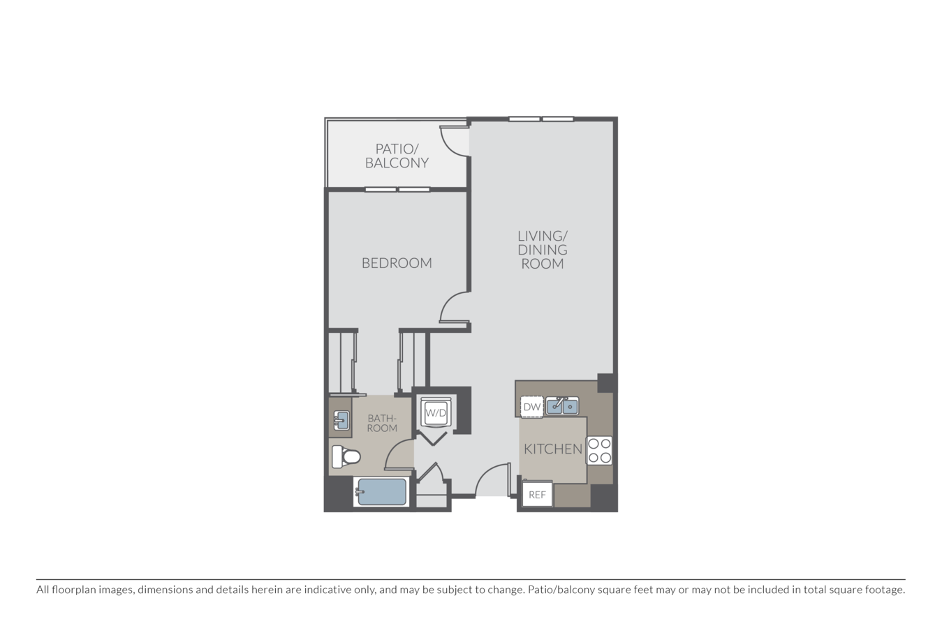 1 Bedroom 1 Bathroom Apartment for rent at Township in Redwood City, CA