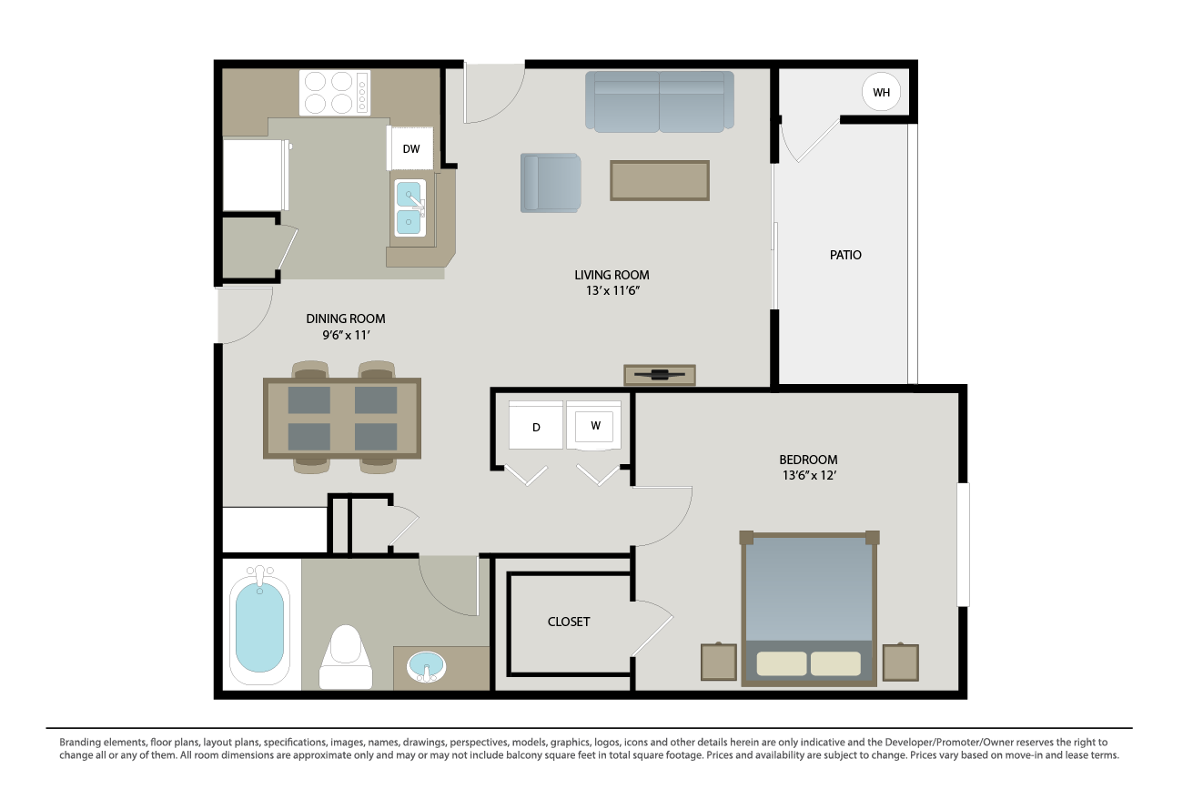 1 Bedroom 1 Bathroom Apartment for rent at Cambridge Park in San Diego, CA