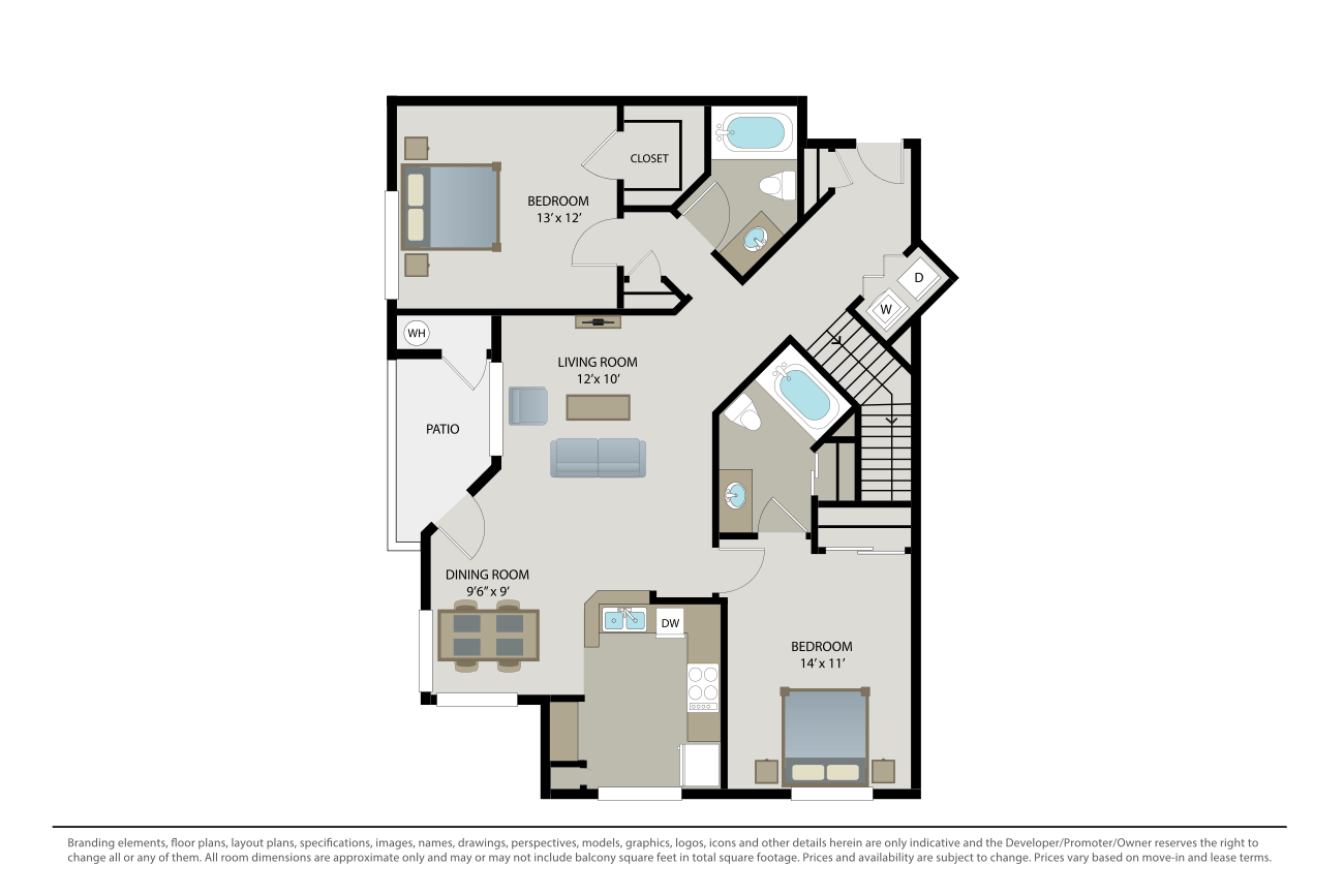2 Bedrooms 2 Bathrooms Apartment for rent at Cambridge Park in San Diego, CA