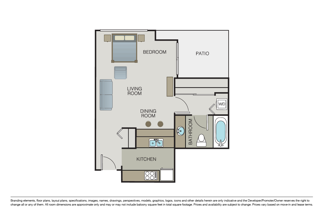 Studio 1 Bathroom Apartment for rent at Centrepointe in San Diego, CA