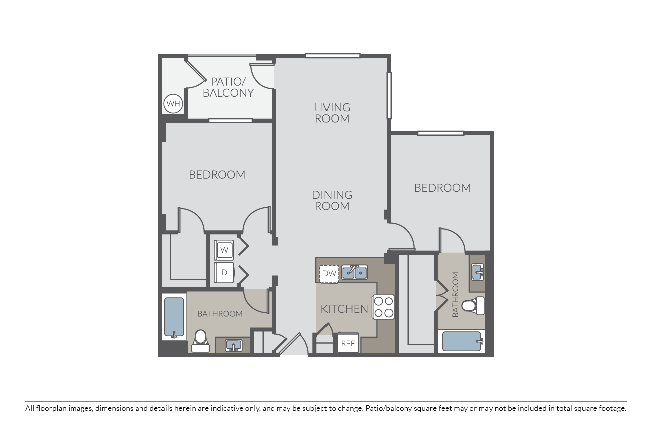 2 Bedrooms 2 Bathrooms Apartment for rent at Mill Creek at Windemere in San Ramon, CA