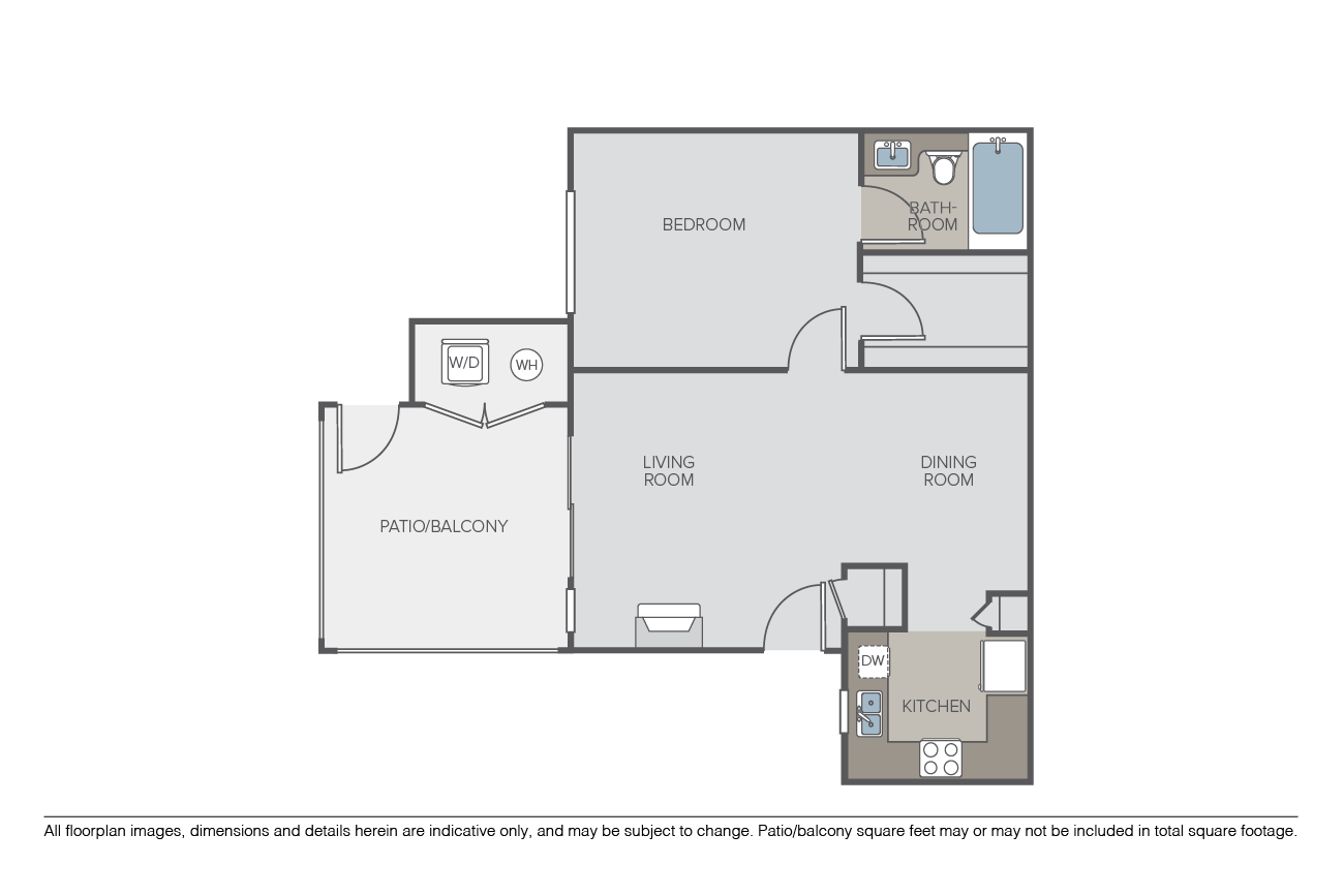1 Bedroom 1 Bathroom Apartment for rent at Montanosa in San Diego, CA