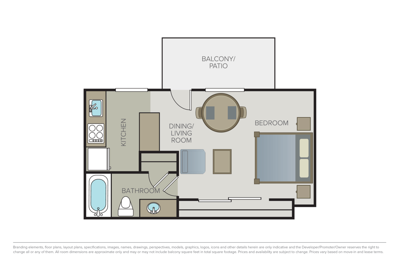Studio 1 Bathroom Apartment for rent at Sage At Cupertino in Cupertino, CA