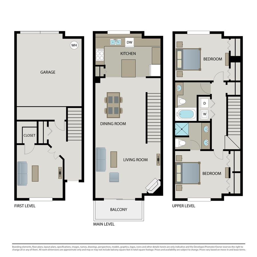 2 Bedrooms 2 Bathrooms Apartment for rent at Arbors At Parc Rose in Oxnard, CA