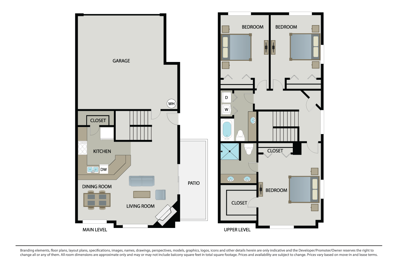 3 Bedrooms 2 Bathrooms Apartment for rent at Arbors At Parc Rose in Oxnard, CA