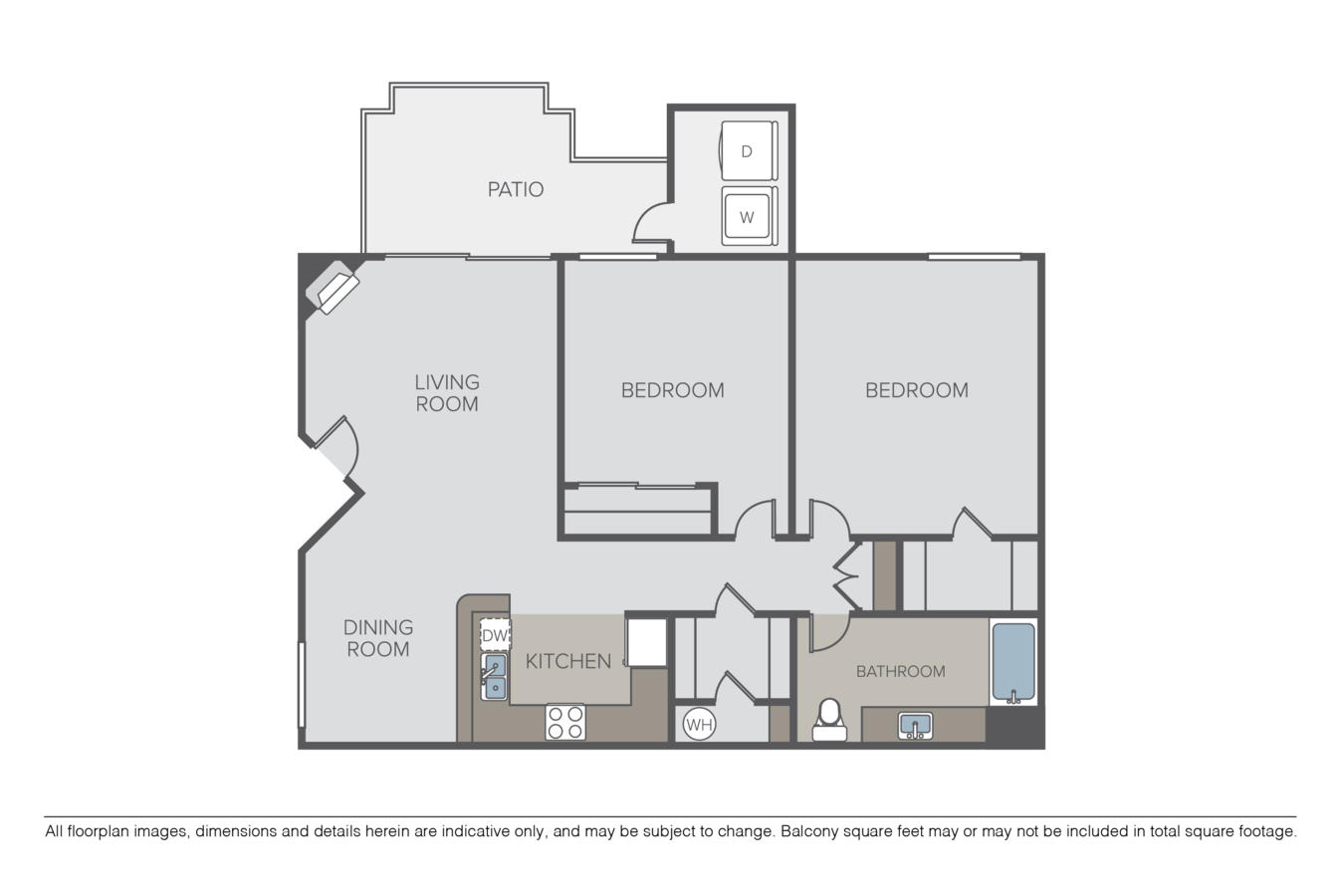 2 Bedrooms 1 Bathroom Apartment for rent at Crow Canyon in San Ramon, CA