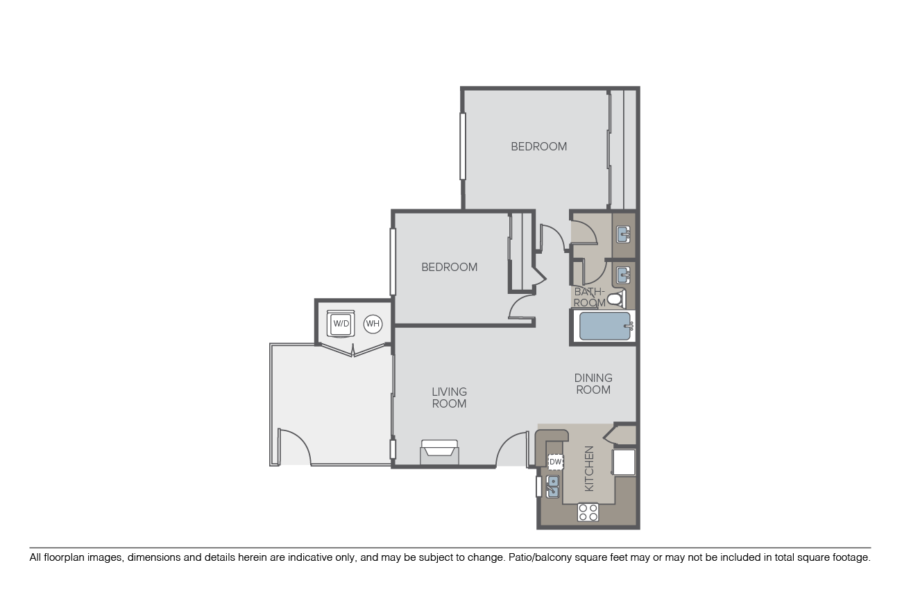 2 Bedrooms 1 Bathroom Apartment for rent at Montanosa in San Diego, CA