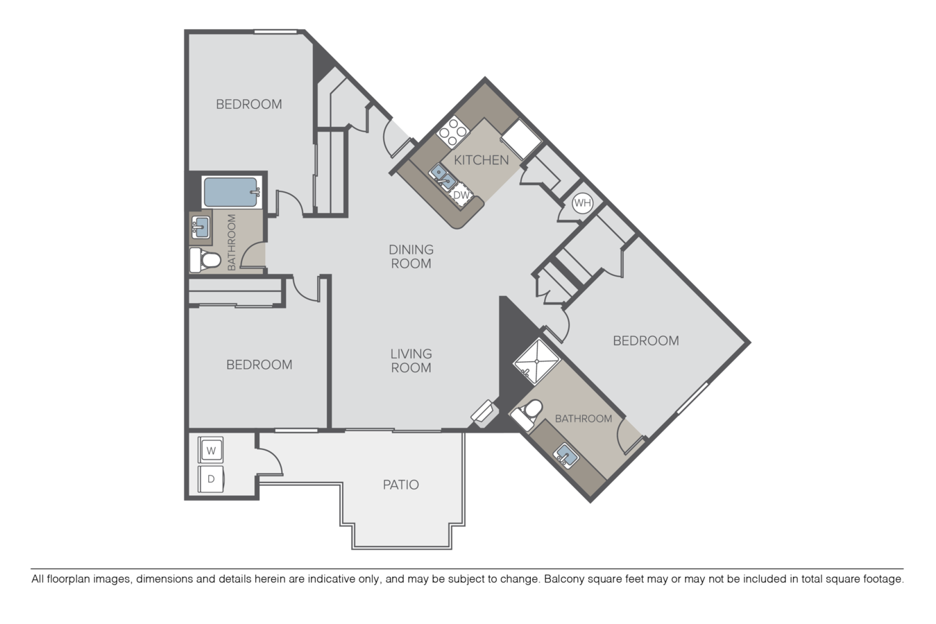 3 Bedrooms 2 Bathrooms Apartment for rent at Crow Canyon in San Ramon, CA