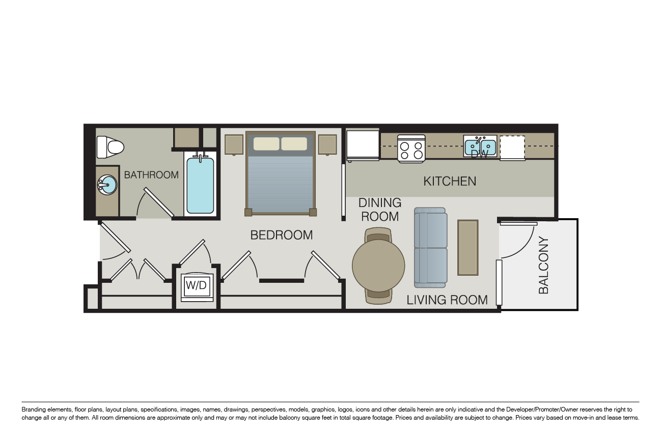 Studio 1 Bathroom Apartment for rent at Form 15 in San Diego, CA
