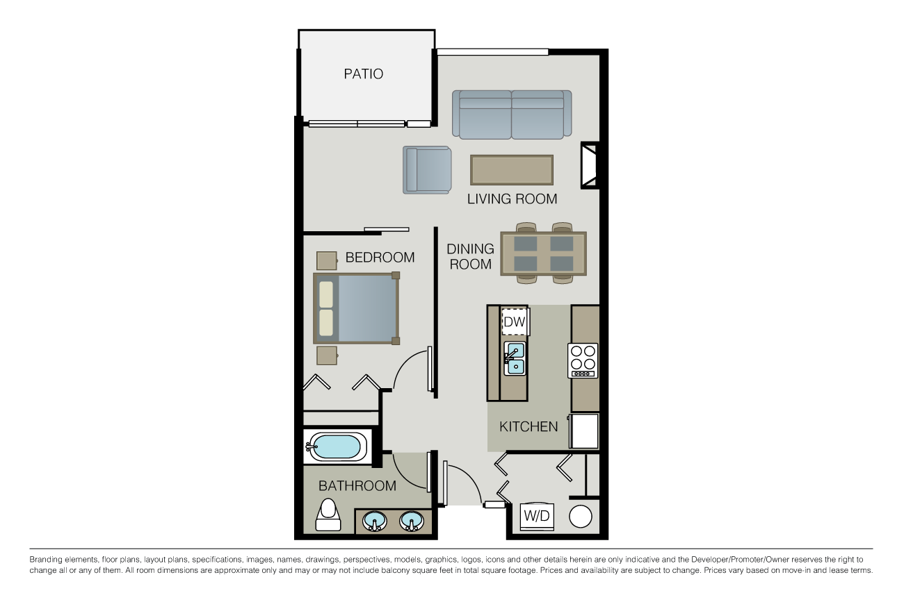 1 Bedroom 1 Bathroom Apartment for rent at Domaine in Seattle, WA