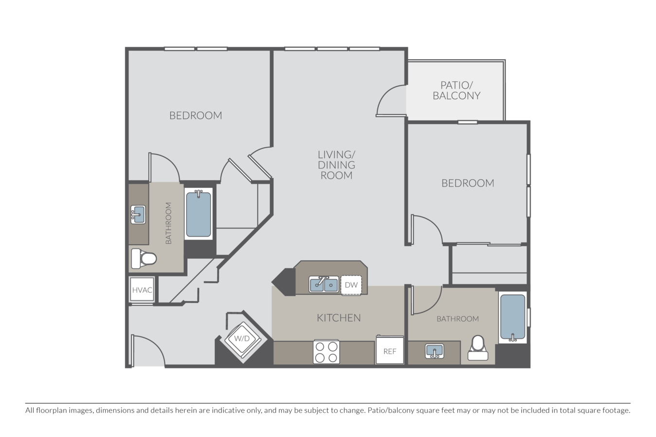 2 Bedrooms 2 Bathrooms Apartment for rent at Township in Redwood City, CA