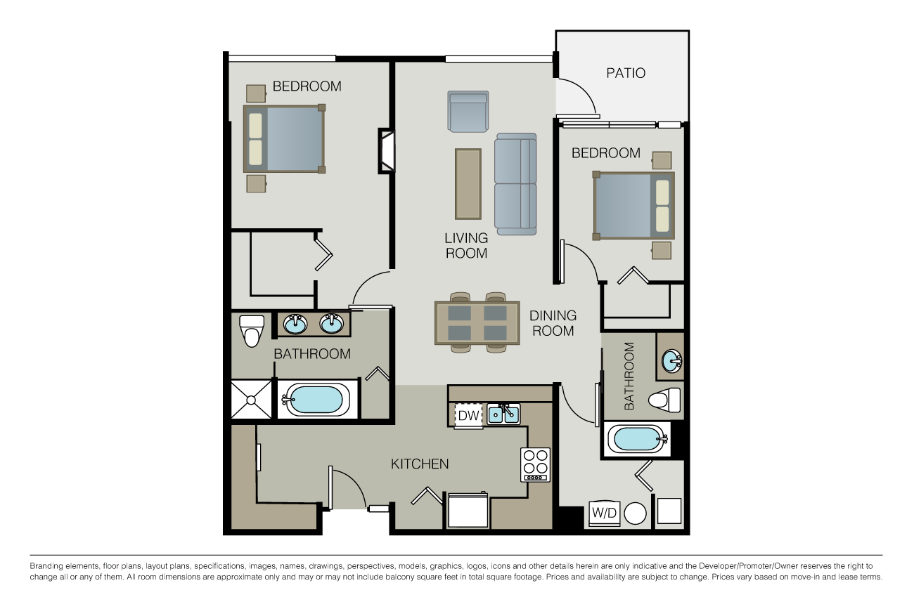 2 Bedrooms 2 Bathrooms Apartment for rent at Domaine in Seattle, WA