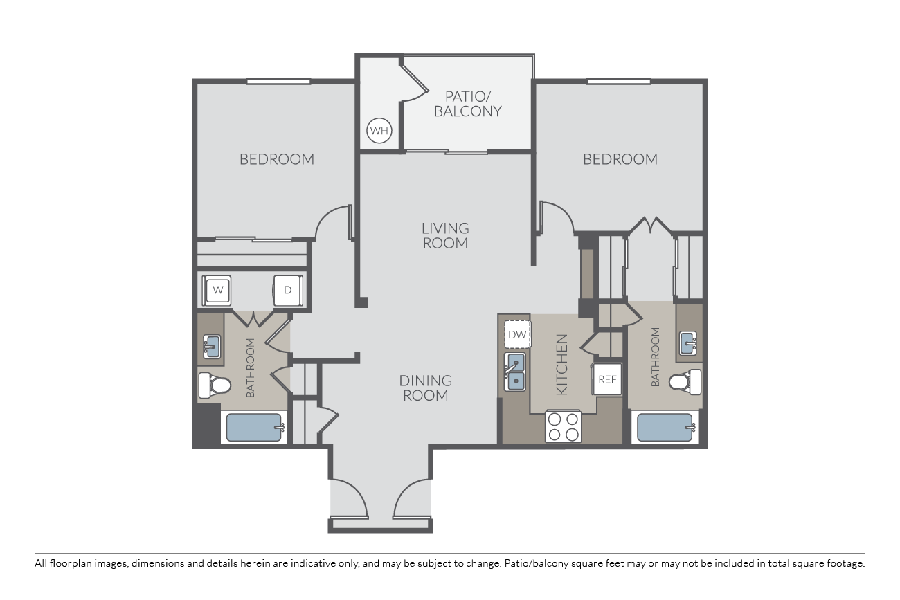 2 Bedrooms 2 Bathrooms Apartment for rent at Canyon Oaks at Windemere in San Ramon, CA