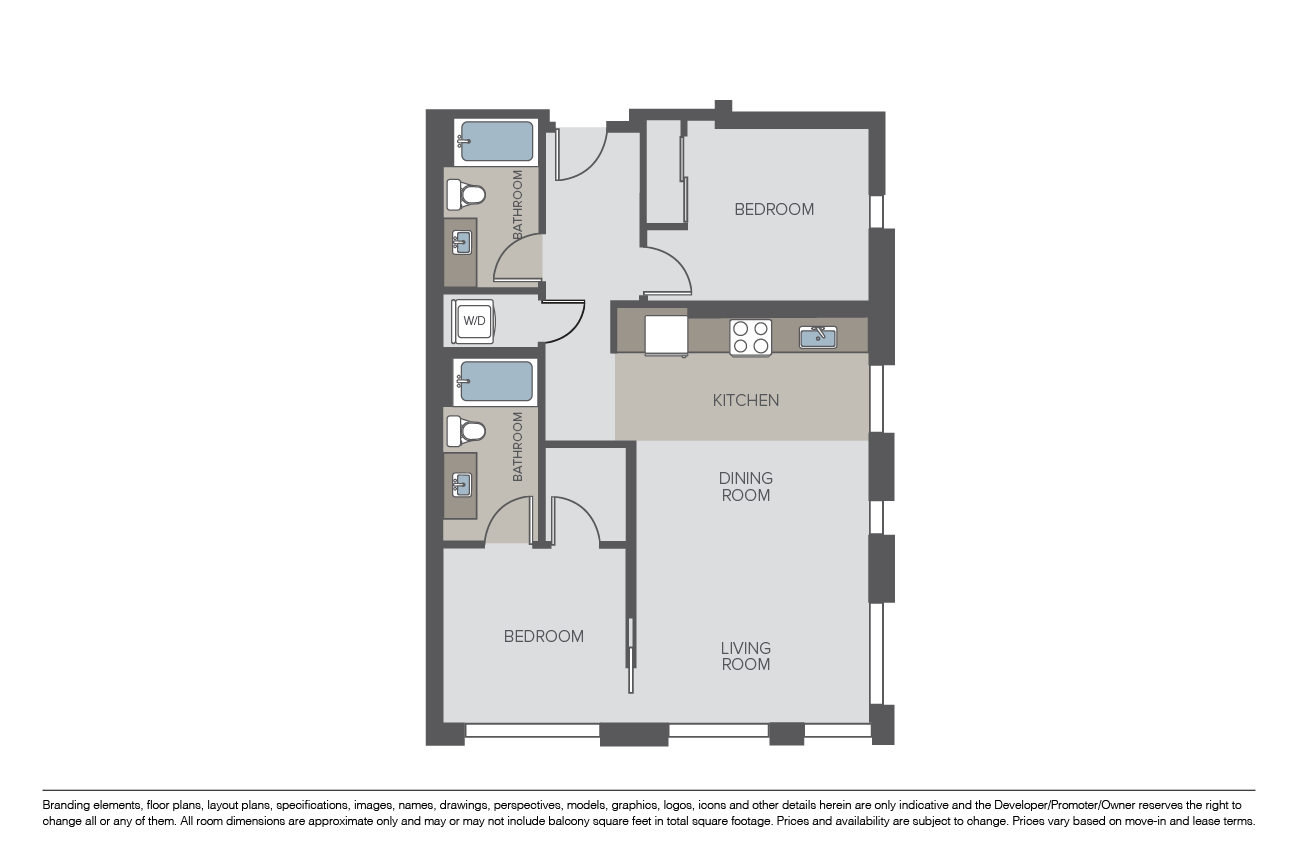 2 Bedrooms 2 Bathrooms Apartment for rent at 8th + Republican in Seattle, WA