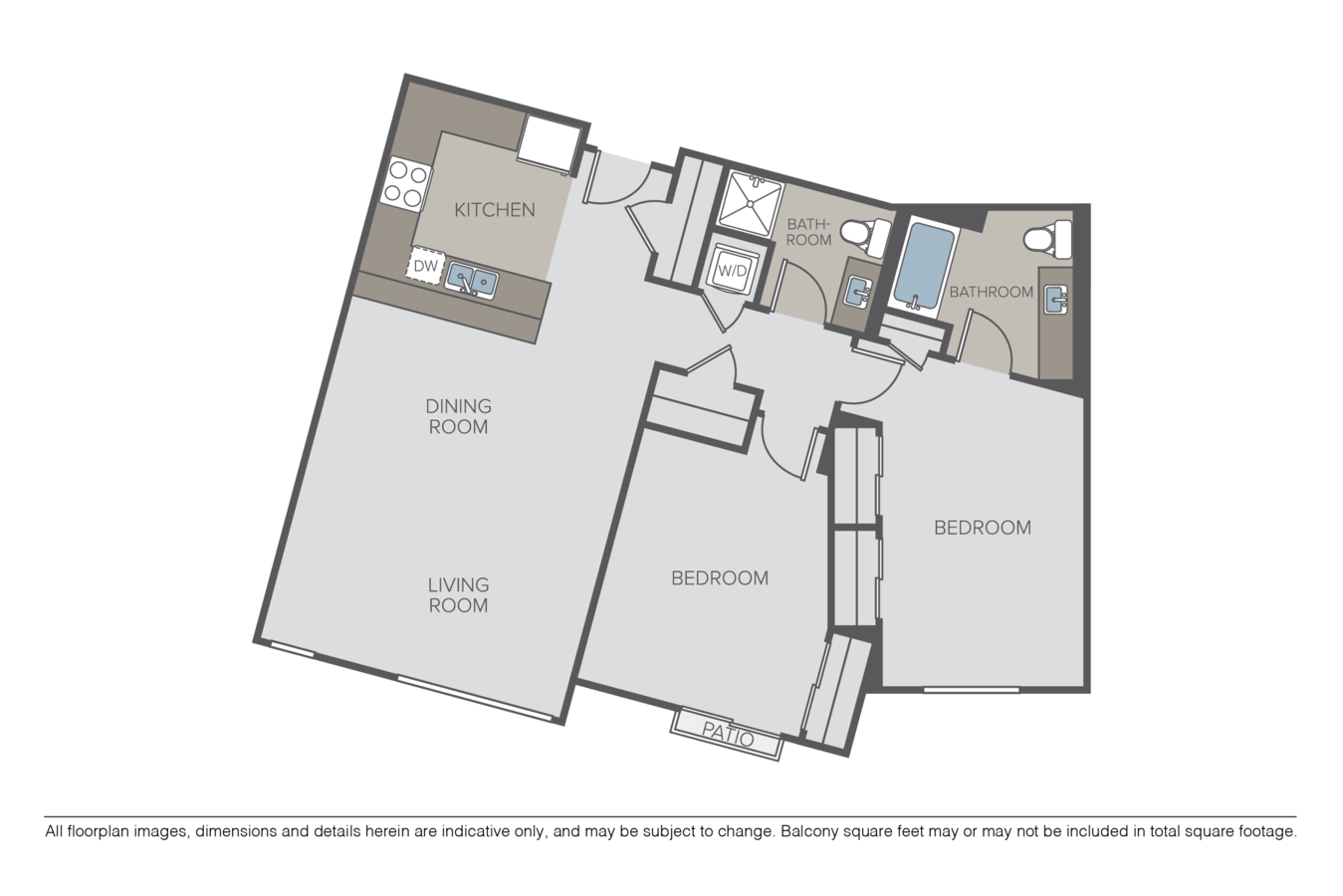 2 Bedrooms 2 Bathrooms Apartment for rent at Taylor 28 in Seattle, WA