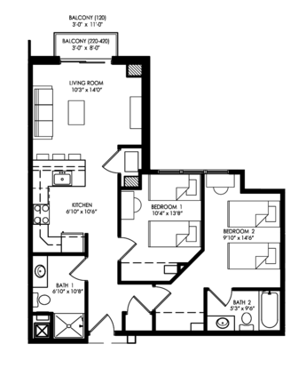 2 Bedrooms 2 Bathrooms Apartment for rent at The Waterfront Apartments in Madison, WI