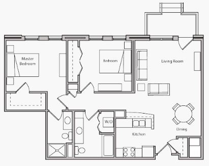 2 Bedrooms 2 Bathrooms Apartment for rent at The Depot in Madison, WI