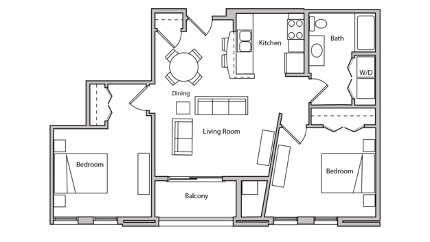 2 Bedrooms 1 Bathroom Apartment for rent at The Depot in Madison, WI