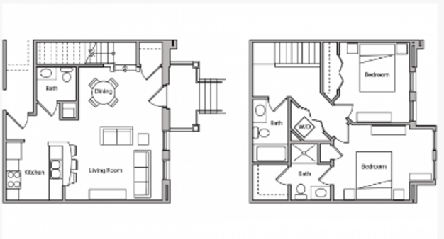 2 Bedrooms 3 Bathrooms Apartment for rent at The Depot in Madison, WI