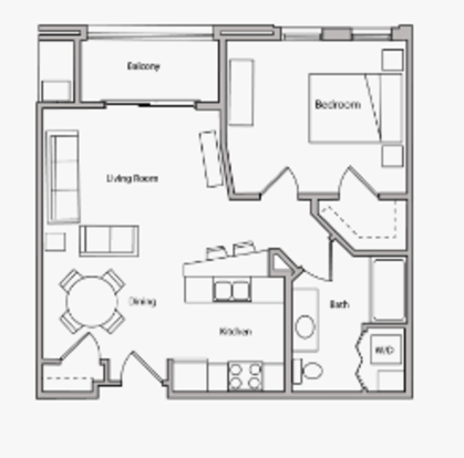 1 Bedroom 2 Bathrooms Apartment for rent at The Depot in Madison, WI