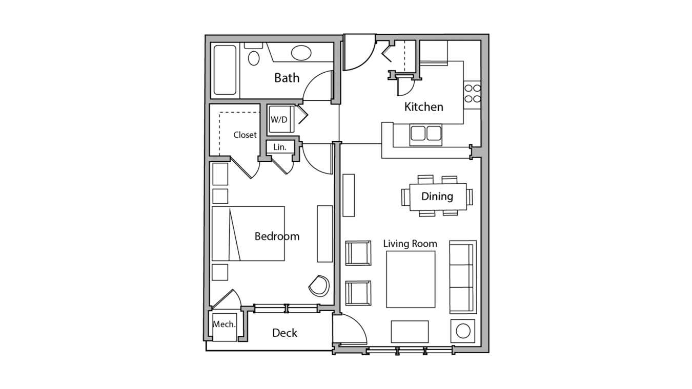 1 Bedroom 1 Bathroom Apartment for rent at Wilson Bay in Madison, WI