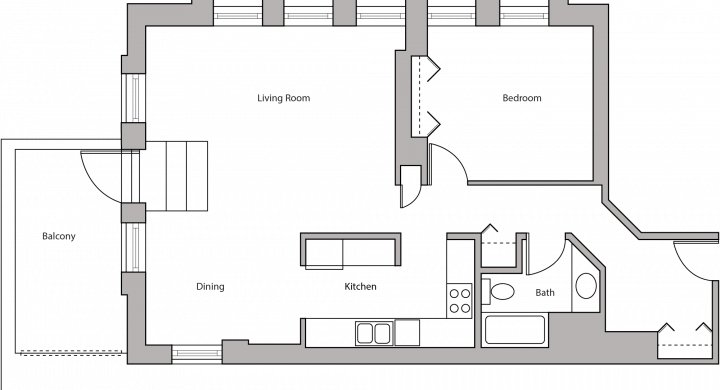 1 Bedroom 1 Bathroom Apartment for rent at Lincoln School in Madison, WI