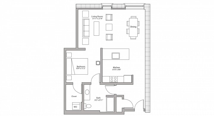 Studio 1 Bathroom Apartment for rent at Tobacco Lofts in Madison, WI