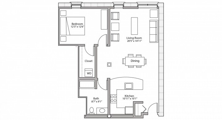 1 Bedroom 1 Bathroom Apartment for rent at Tobacco Lofts in Madison, WI