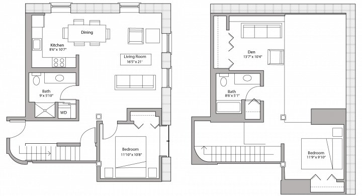 2 Bedrooms 2 Bathrooms Apartment for rent at Tobacco Lofts in Madison, WI