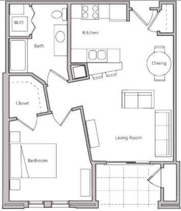 1 Bedroom 1 Bathroom Apartment for rent at The Depot in Madison, WI